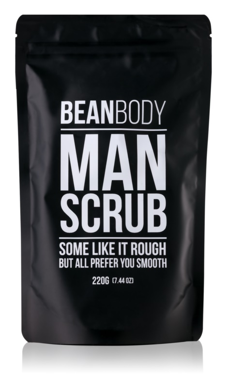 Bean Body Man vyhladzujúci telový peeling pre mužov