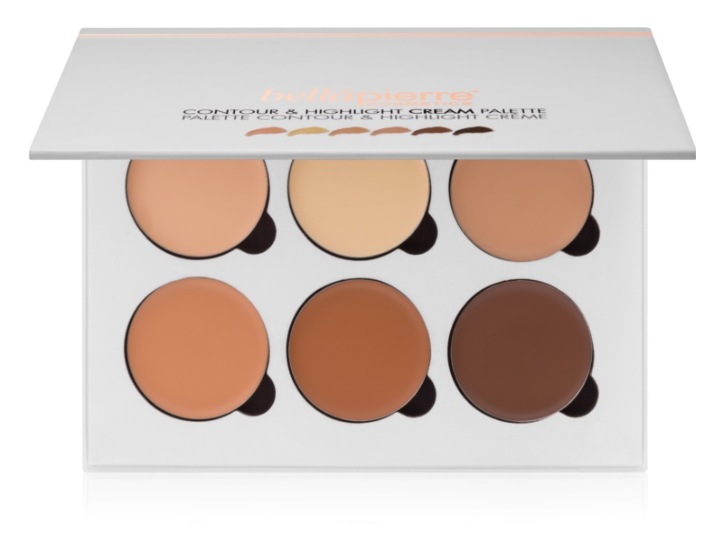 BelláPierre Contour & Highlight palette contour de visage crémeux