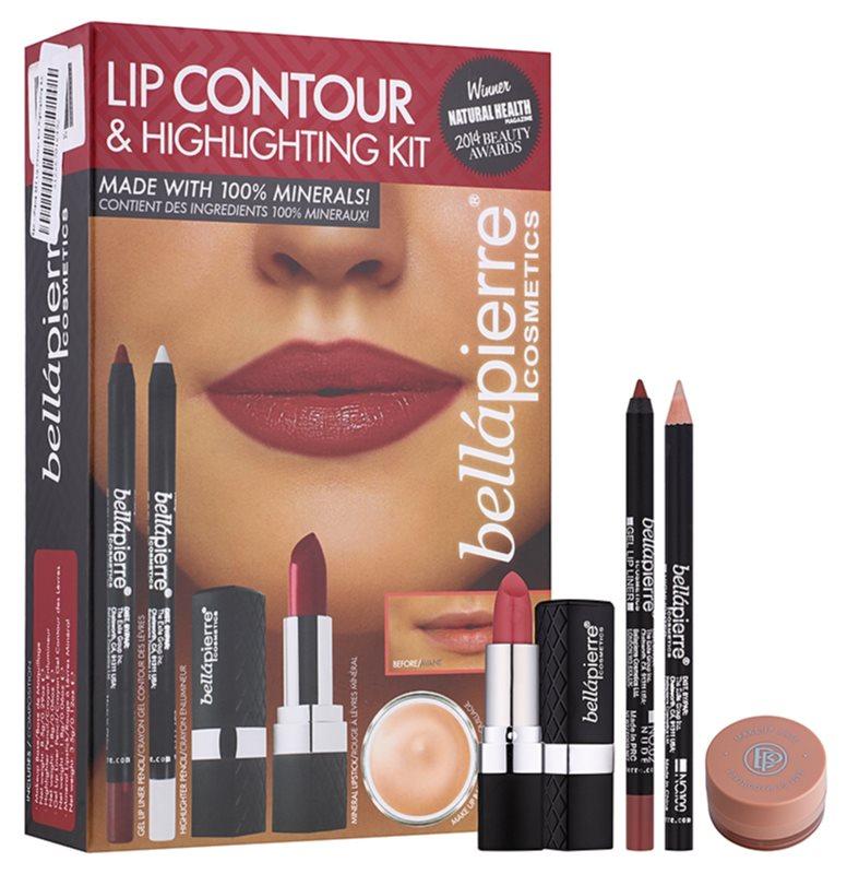 BelláPierre Lip Contour & Highlighting Kit coffret cosmétique I.