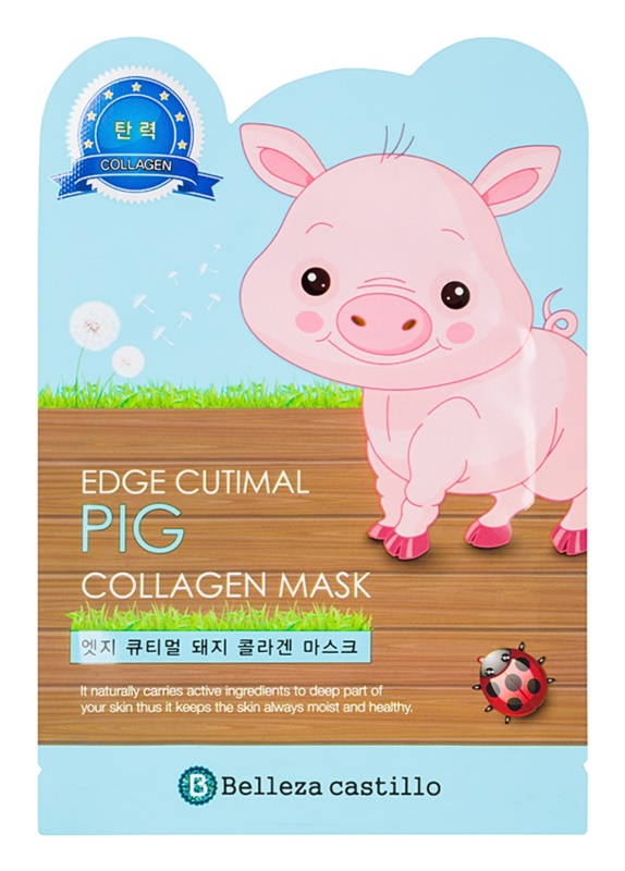 Belleza Castillo Edge Cutimal Pig maschera viso con collagene
