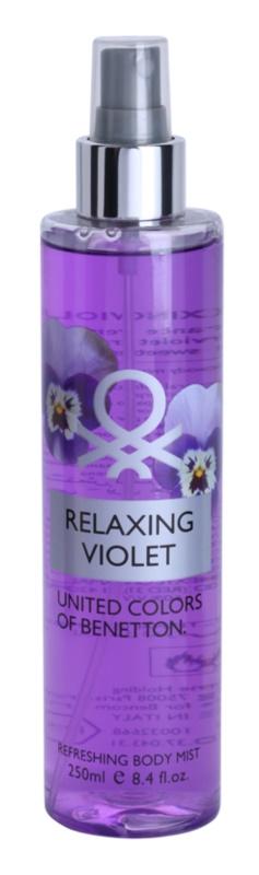 Benetton Relaxing Violet spray corporel pour femme 250 ml