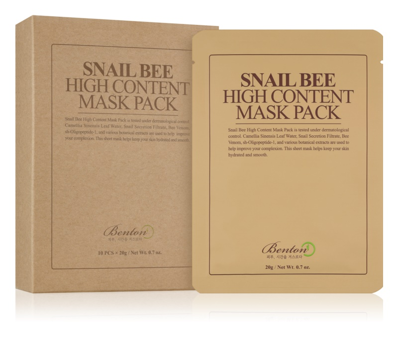 Benton Snail Bee Zellschichtmaske zur Komplettpflege mit Snail Extract