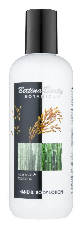 Bettina Barty Botanical Rice Milk & Bamboo losjon za roke in telo z vlažilnim učinkom