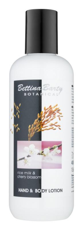 Bettina Barty Botanical Rise Milk & Cherry Blossom loción para manos y cuerpo con efecto humectante