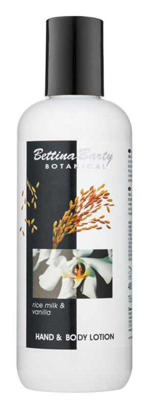 Bettina Barty Botanical Rise Milk & Vanilla lotiune pentru maini si corp