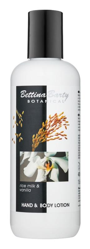 Bettina Barty Botanical Rise Milk & Vanilla lotiune pentru maini si corp