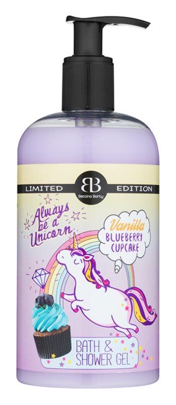 Bettina Barty Vanilla Blueberry Cupcake gel de duche e banho