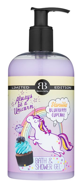 Bettina Barty Vanilla Blueberry Cupcake gel de duche e banho