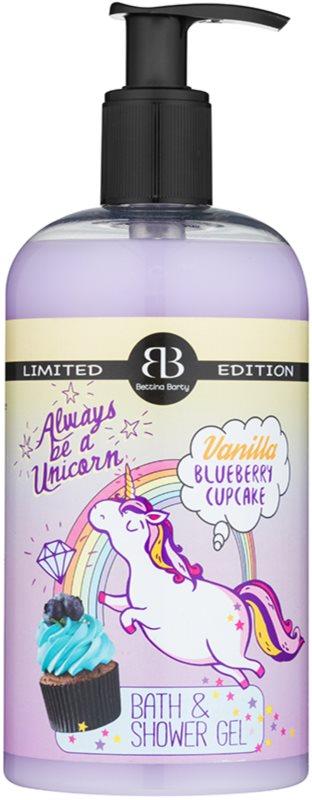 Bettina Barty Vanilla Blueberry Cupcake sprchový a koupelový gel