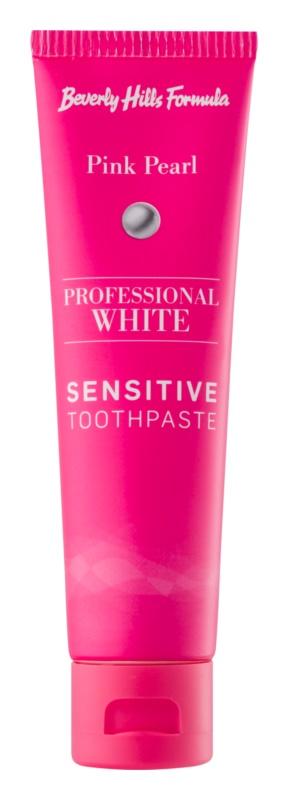Beverly Hills Formula Professional White Range bieliaca zubná pasta s fluoridom pre citlivé zuby