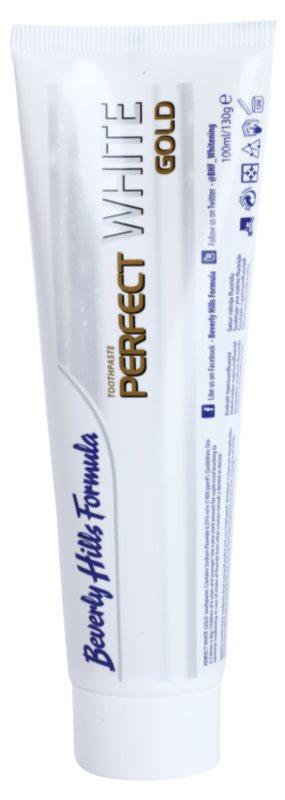 Beverly Hills Formula Perfect White Gold избелваща паста за зъби със златни частици