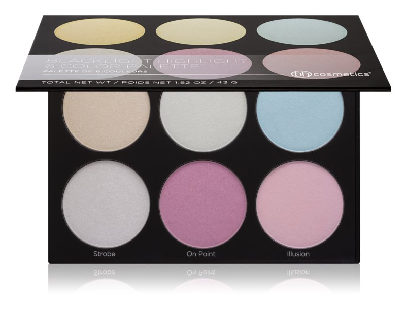 BH Cosmetics Blacklight Highlight palette d'enlumineurs