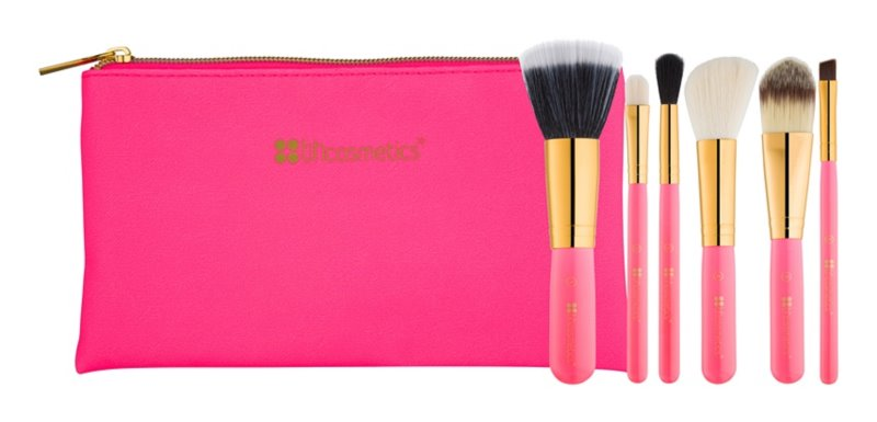 BH Cosmetics Neon Pink набір щіточок для макіяжу