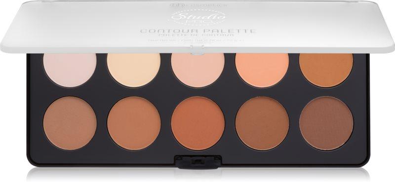 BH Cosmetics Studio Pro paleta na kontúry tváre s rozjasňovačom