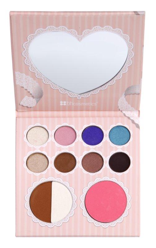 BH Cosmetics That´s Heart paleta dekoratívnej kozmetiky so zrkadielkom