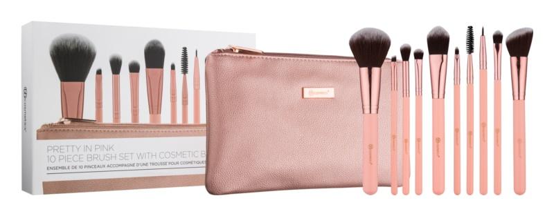 BHcosmetics Pretty in Pink набір щіточок для макіяжу