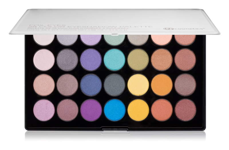 BHcosmetics 28 Color Foil paleta metalických očných tieňov