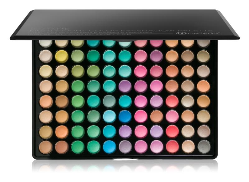 BHcosmetics 88 Color Matte paleta de sombras de ojos con un espejo pequeño
