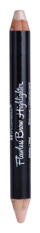 BH Cosmetics BHcosmetics Flawless Highlighter-Stift für die Augenbrauenkonturen 2 in 1
