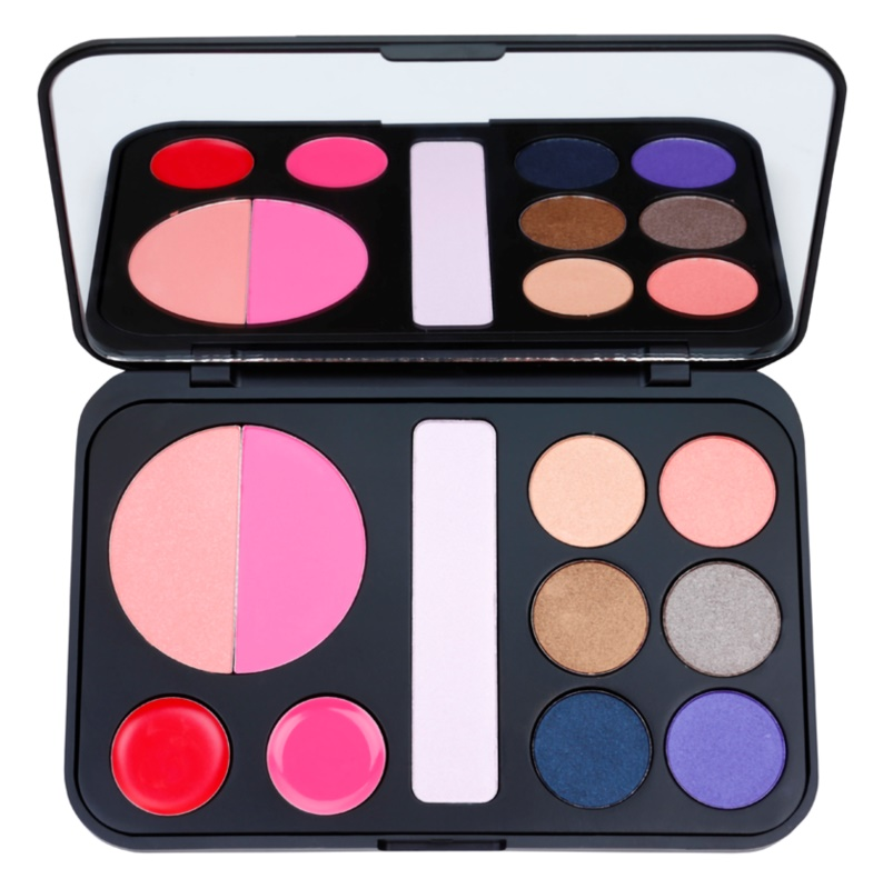 BH Cosmetics Forever Glam paleta dekorativní kosmetiky se zrcátkem