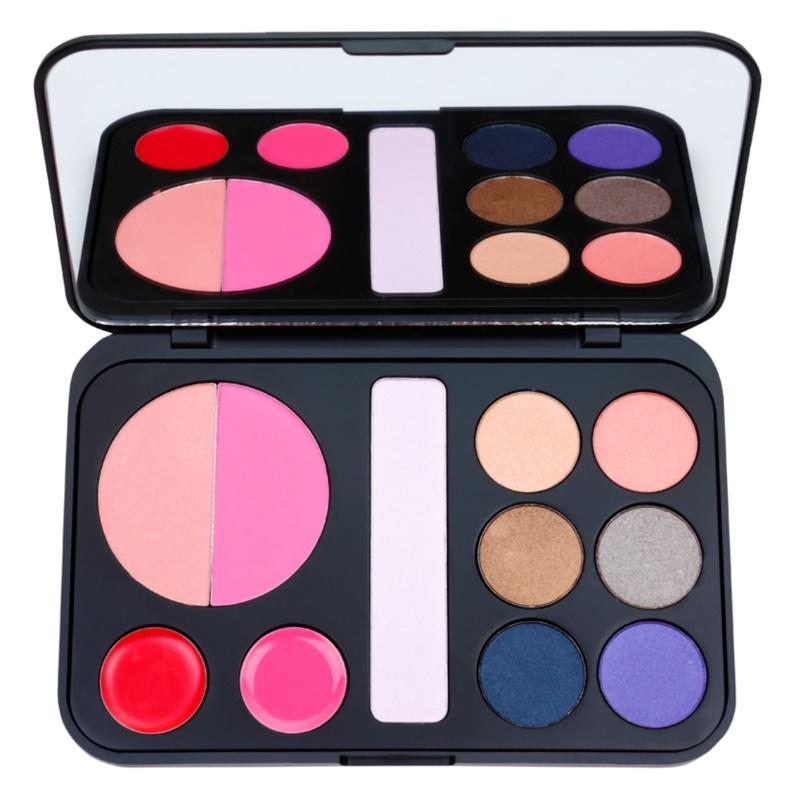 BHcosmetics Forever Glam paleta dekorativní kosmetiky se zrcátkem