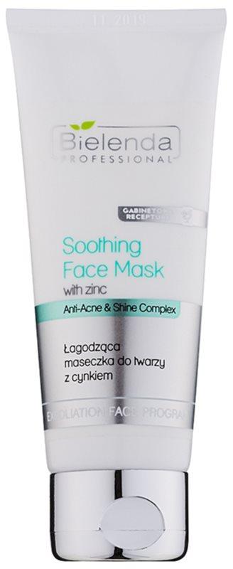Bielenda Professional Anti-Acne & Shine Complex maschera lenitiva per pelli grasse con tendenza all'acne