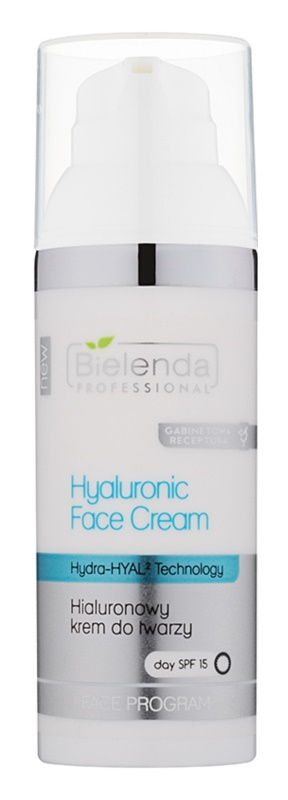 Bielenda Professional Hydra-Hyal Technology huidcrème met hyaluronzuur SPF 15
