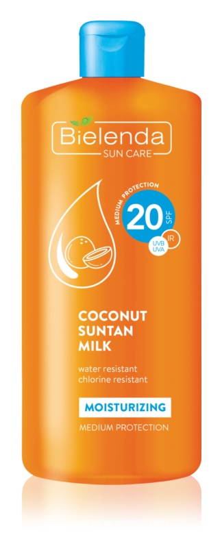 Bielenda Bikini Coconut ενυδατικό αντηλιακό γαλάκτωμα SPF 20
