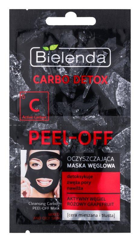 Bielenda Carbo Detox Active Carbon Abziehtuch-Gesichtsmaske mit Aktivkohle für fettige und Mischhaut