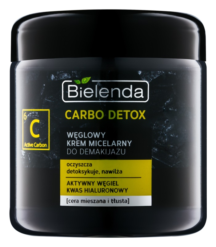 Bielenda Carbo Detox Active Carbon Cleansing Micellar Cream with Activated Charcoal for Oily and Combiantion Skin