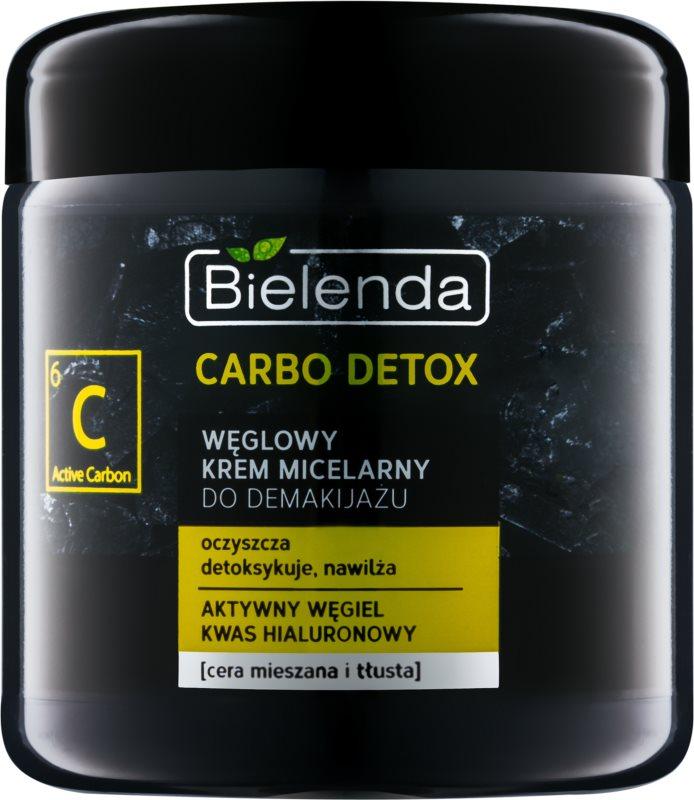 Bielenda Carbo Detox Active Carbon creme micelar de limpeza com carvão ativo  para pele oleosa e mista