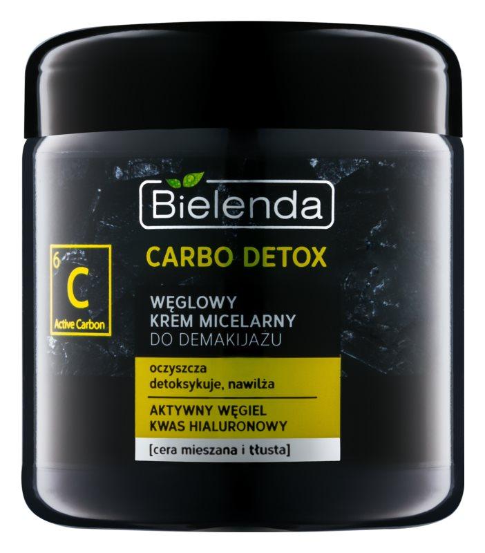 Bielenda Carbo Detox Active Carbon micelarna krema za čišćenje s aktivnim ugljenom za mješovitu i masnu kožu lica