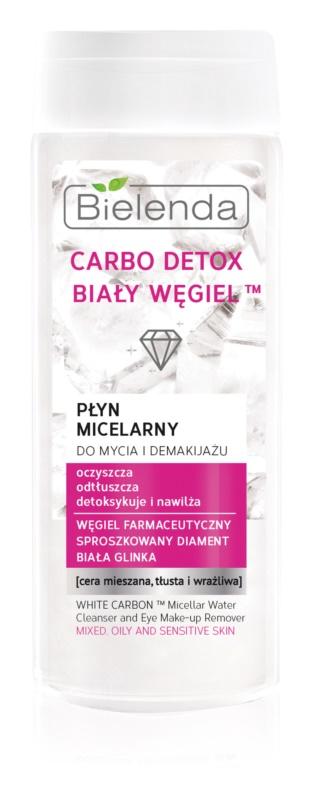 Bielenda Carbo Detox White Carbon acqua micellare struccante e detergente