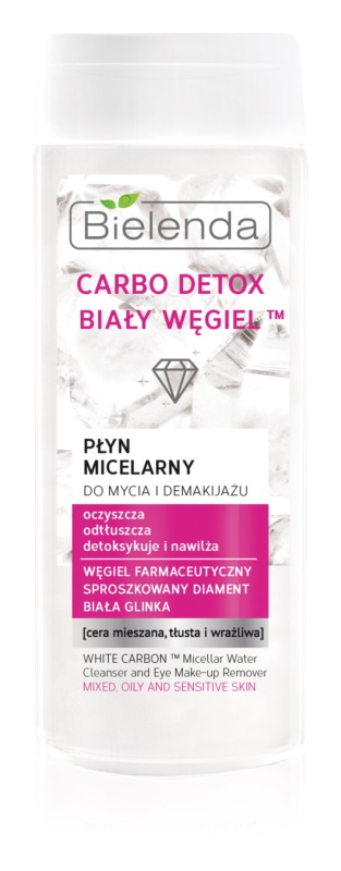 Bielenda Carbo Detox White Carbon Cleansing and Makeup-Removing Micellar Water