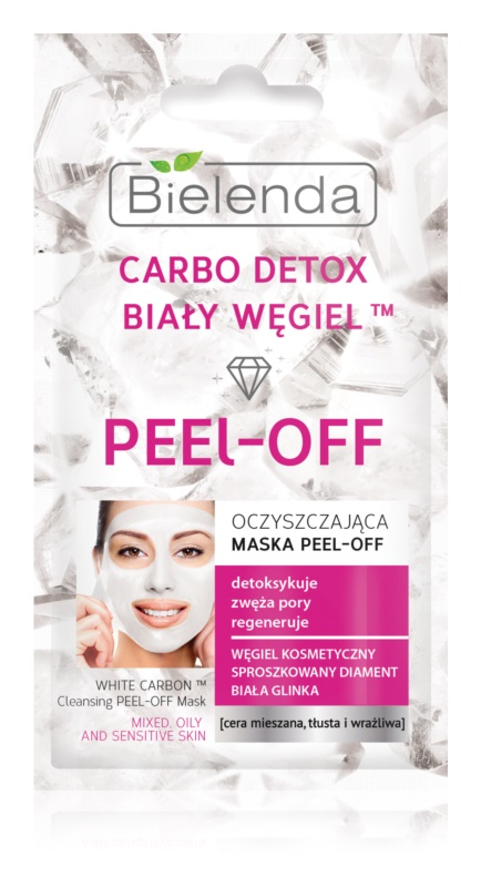 Bielenda Carbo Detox White Carbon maschera peel-off detergente