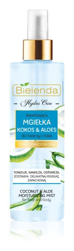 Bielenda Hydra Care Coconut & Aloe bruma de corp hidratanta pentru fata si corp