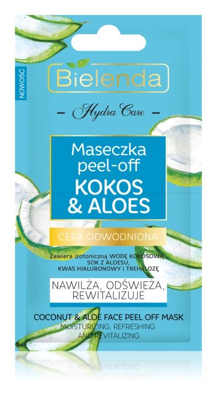 Bielenda Hydra Care Coconut & Aloe Peel-Off Gesichtsmaske mit feuchtigkeitsspendender Wirkung