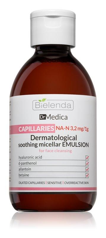 Bielenda Dr. Medica Capillaries kalmerend micellair water voor de huid met de neiging tot rood worden