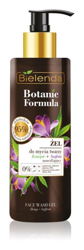Bielenda Botanic Formula Hemp + Saffron gel detergente per il viso effetto idratante