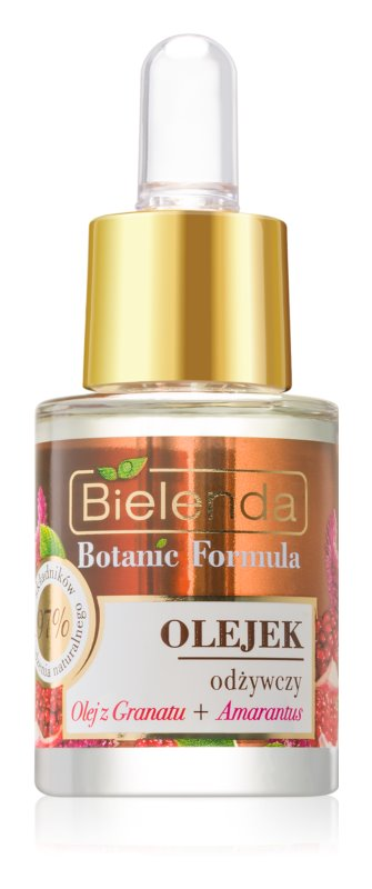 Bielenda Botanic Formula Pomegranate Oil + Amaranth olio nutriente viso