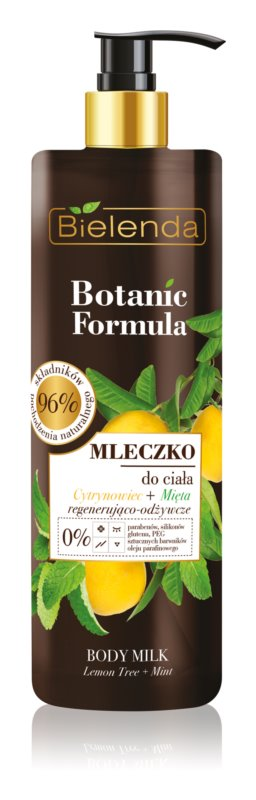 Bielenda Botanic Formula Lemon Tree Extract + Mint Nourishing Body Milk
