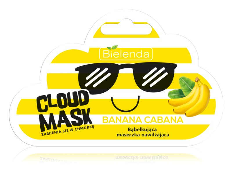 Bielenda Cloud Mask Banana Cabana maschera idratante viso