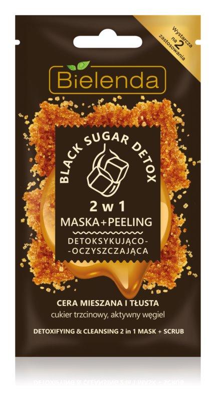 Bielenda Black Sugar Detox maschera detossinante e micro-scrub 2 in 1