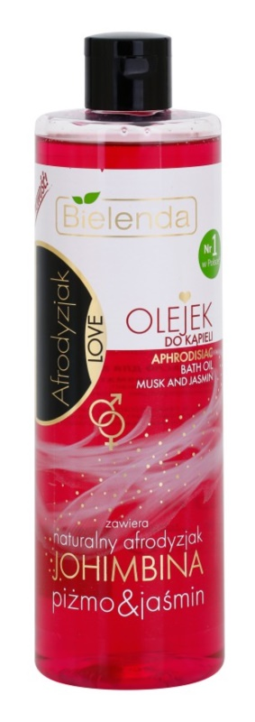 Bielenda Aphrodisiac Love Yohimbine, Musk & Jasmin ulei pentru baie cu uleiuri esentiale