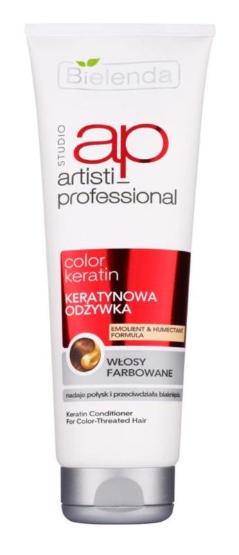 Bielenda Artisti Professional Color Keratin condicionador regenerador para cabelo pintado