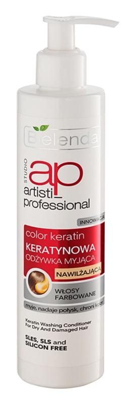 Bielenda Artisti Professional Color Keratin keratinový kondicionér pro suché a poškozené vlasy