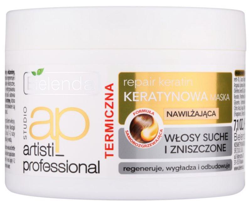 Bielenda Artisti Professional Repair Keratin máscara regeneradora e hidratante para cabelo seco a danificado