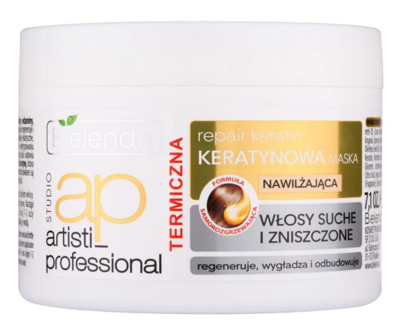 Bielenda Artisti Professional Repair Keratin regeneracijska in vlažilna maska za suhe in poškodovane lase