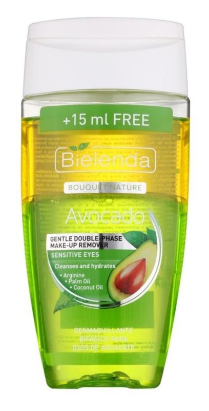 Bielenda Avocado sanfter 2-Phasen Make up-Entferner für empfindliche Augen