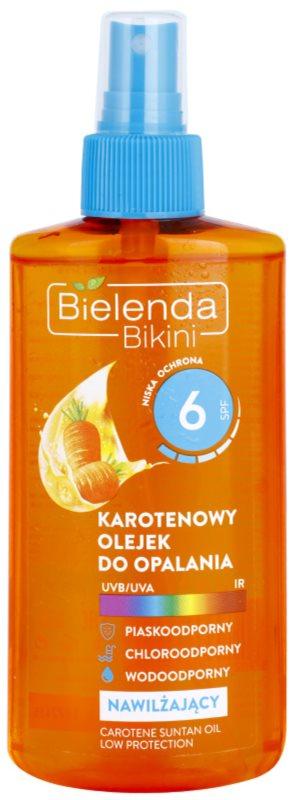Bielenda Bikini Carotene huile solaire hydratante en spray SPF 6